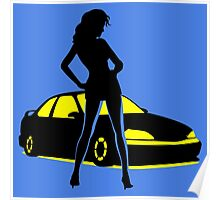 Car Tuning Girl (Coupe) Poster