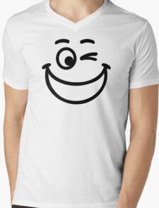 Smiley laugh Mens V-Neck T-Shirt
