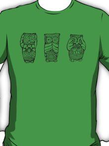 Hear, See, Speak No Evil Owl T-Shirt