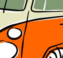 VW Type 2 bus orange Sticker
