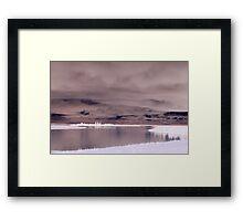Cloudy Lake Inverted Framed Print