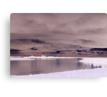 Cloudy Lake Inverted Canvas Print