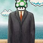 Magritte Parody Video Game Son of Man 1UP by Carl Huber