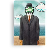 Magritte Parody Video Game Son of Man 1UP Canvas Print