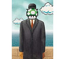 Magritte Parody Video Game Son of Man 1UP Photographic Print