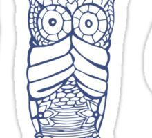 owl, hear see speak no evil Sticker