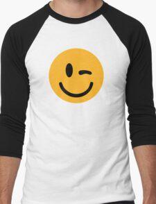 Smiley wink Men's Baseball ¾ T-Shirt