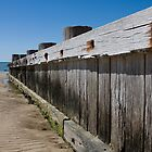 Timber beach retaining wall, Rye. by RyePixels