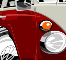 VW split-screen bus caricature Sticker