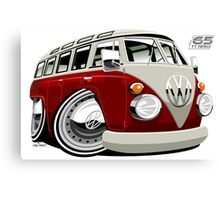 VW split-screen bus caricature Canvas Print