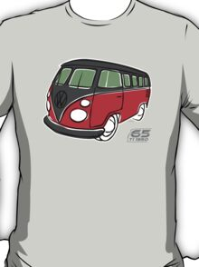 VW Type 2 bus red/black T-Shirt