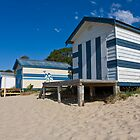 Boat sheds on Tyrone foreshore, Rye, Mornington Peninsula by RyePixels