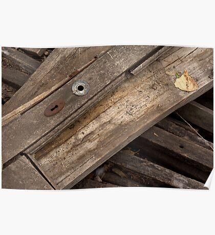 Old wooden door - detail Poster