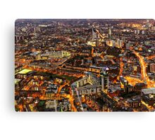 City Lights, London, United Kingdom Canvas Print