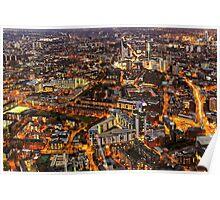 City Lights, London, United Kingdom Poster