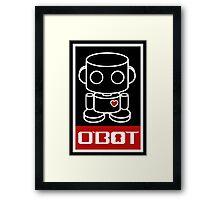 O'bot Spread Love 1.0 Framed Print