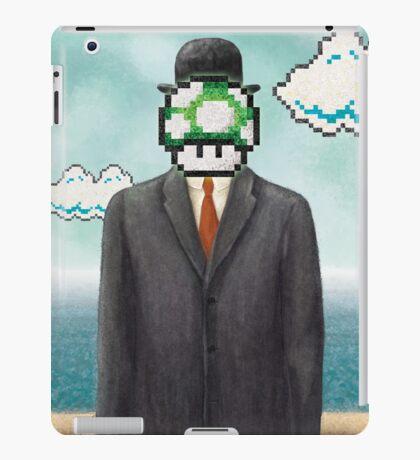 Magritte Parody Video Game Son of Man 1UP iPad Case/Skin