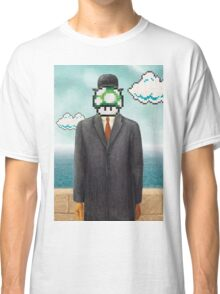 Magritte Parody Video Game Son of Man 1UP Classic T-Shirt