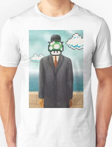 Magritte Parody Video Game Son of Man 1UP Unisex T-Shirt