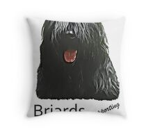 black briard  bushfire Throw Pillow