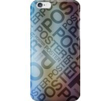 The Poster Poster Poster iPhone Case/Skin