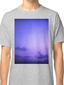 Clouds in sky in blue purple dusk sunset evening in Ibiza summer Hasselblad square medium format film analogue photo Classic T-Shirt