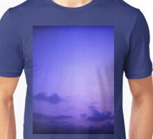 Clouds in sky in blue purple dusk sunset evening in Ibiza summer Hasselblad square medium format film analogue photo Unisex T-Shirt