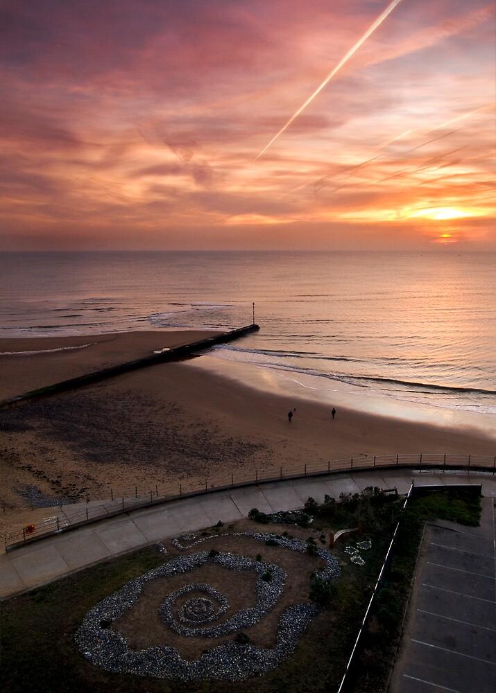 Sunrise over the sea garden by Paul Tremble