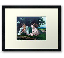 Temptation After W. Bouguereau Framed Print