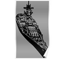 USS Iowa (BB-61) Poster