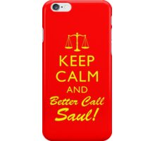 Keep Calm and Better Call Saul iPhone Case/Skin