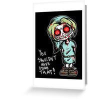 Ben Drowned Dirty Sketch Greeting Card