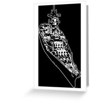 USS Iowa (BB-61) Greeting Card