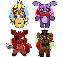 Five nights at Chibi Photographic Print