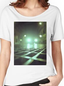 Grid city streets Hasselblad square medium format analogue film photograph Women's Relaxed Fit T-Shirt