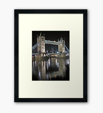 Tower Bridge reflections Framed Print