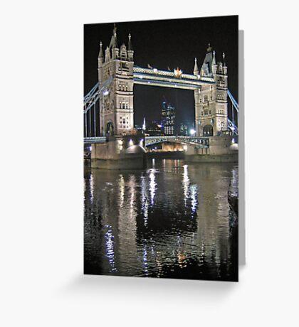Tower Bridge reflections Greeting Card