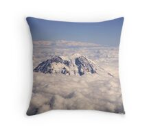 Mount Rainier over Clouds Throw Pillow
