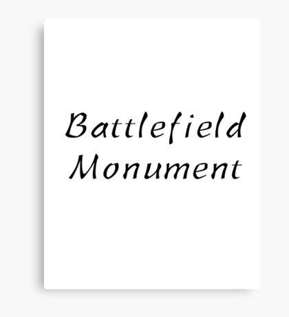 Battlefield Monument Canvas Print