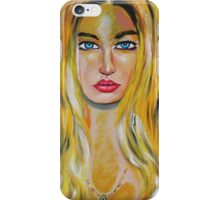 Blonde girl with 2 birds iPhone Case/Skin