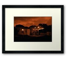 Red Dawn Market Framed Print