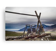 Dogsleds Waiting for Winter Canvas Print
