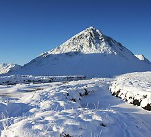 Buachaille Etive Mor in Winter.  by John Cameron
