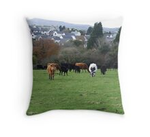 COWS IN PASTURE Throw Pillow