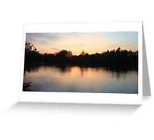 Sunset in Norfolk Greeting Card