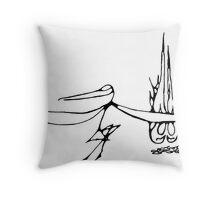 Bird Shaman with Fire Throw Pillow