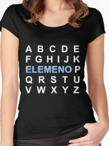 ABC ELEMENO Alphabet Women's Fitted Scoop T-Shirt