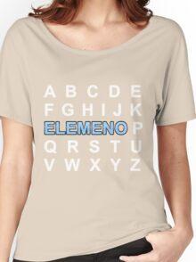 ABC ELEMENO Alphabet Women's Relaxed Fit T-Shirt
