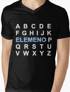 ABC ELEMENO Alphabet Mens V-Neck T-Shirt