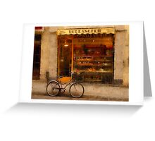Boulangerie & Bike Greeting Card